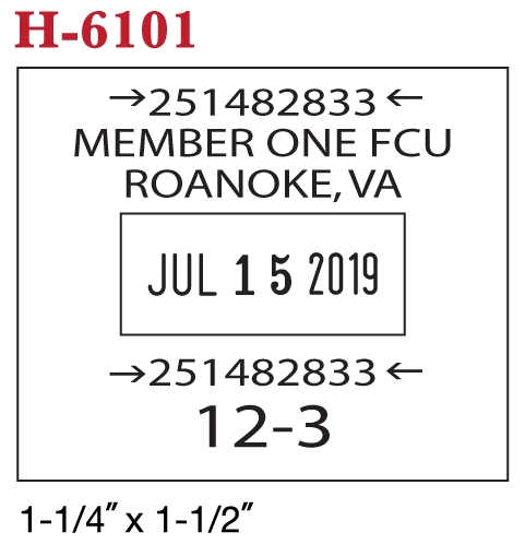 HM-6101 Stamp example
