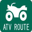 ATV-RTE-SGN_1218 - ATV ROUTE SIGN 1218