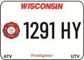 Create your Wisconsin Metal ATV UTV Firefighter state plates with the Wisconsin DMV Create your today. We offer the lowest price, A-1 quality, ships today! Only $29.95. We are the ATV UTV Plate specialists.