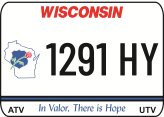 Create your Wisconsin Metal ATV UTV Law Enforcement Memorial state plates with the Wisconsin DMV Look! Create your today. We offer the lowest price, A-1 quality, ships today! Only $29.95. We are the ATV UTV Plate specialists.