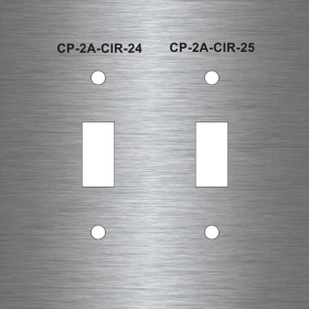 Custom Engraved Stainless Steel Switch Outlet Data Plates