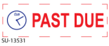 Get a PAST DUE - Preinked Stock Stamp today. Order now for Same Day shipping or choose overnight for Next Day Delivery.