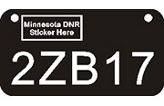 """Create-A-Plate"" today for Minnesota ATV UTV Plates. Variety of colors, DNR approved, UV protected for $11.95."