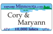 We offer Minnesota ATV UTV fun plates with the Minnesota DMV Look that you watch create. We offer the lowest price, A-1 quality, ships today! Only $16.95.