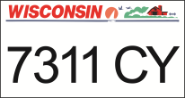 We offer Wisconsin ATV UTV state plates with the Wisconsin DMV Look that you watch create. We offer the lowest price, A-1 quality, ships today! Only $14.95.