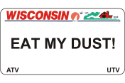 We offer Wisconsin ATV UTV fun plates with the Wisconsin DMV Look that you watch create. We offer the lowest price, A-1 quality, ships today! Only $16.95.